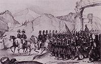 Passage des troupes françaises aux « Portes de fer »