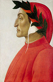 Portrait de Dante par Sandro Botticelli.