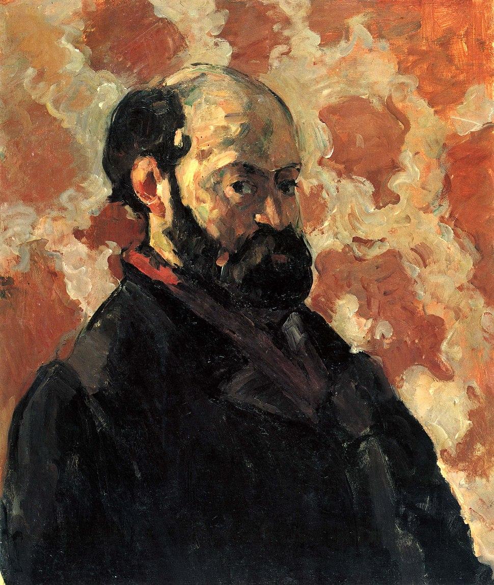 Portrait de l'artiste au fond rose, par Paul Cézanne