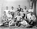 "Portrait of College Football Team, The ""Pirates,"" in Partial Uniform, and with Man in Business Suit 1879.jpg"