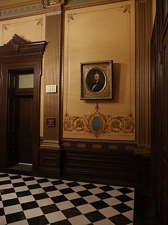 Kinsley S. Bingham - Portrait of Kinsley S, Bingham now hanging in the Michigan State Capitol painted by Joshua Adam Risner in 2016.