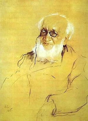 Pyotr Semyonov-Tyan-Shansky - Portrait by Valentin Serov (1905).