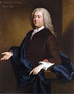 Portrait of Sir John Hynde Cotton (1686-1752), Williams-Wynn's Tory colleague