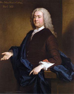 Sir John Hynde Cotton, 3rd Baronet - Image: Portrait of Sir John Hynde Cotton, 3rd Bt
