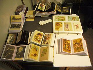 Deltiology study and collection of postcards