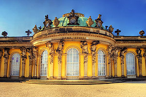 Brandenburg - Sanssouci Palace in Potsdam, the former summer palace of Frederick the Great, today a World Heritage site