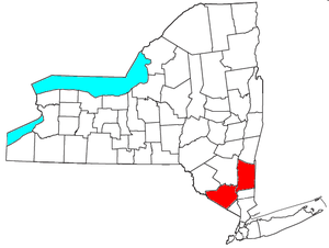 Poughkeepsie–Newburgh–Middletown metropolitan area - Location of the Poughkeepsie-Newburgh-Middletown Metropolitan Statistical Area in New York