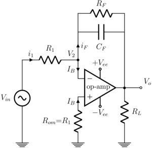 Charge amplifier - Practical integrator
