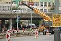 Praha, Řepy, Makovského, rekonstrukce tramvajové trati, demontáž kolejnic.JPG