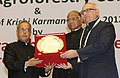 Pranab Mukherjee presented the Krishi Karman Awards 2012-13 to State Governments for exemplary performance in increasing food grain production, at the inauguration of the World Congress on Agroforestry- 2014 (3).jpg
