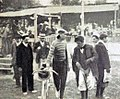 Premier Tour de France 1903, Hyppolite Aucouturier arrive avec le meilleur temps au vélodrome du Bazacle de Toulouse, le 8 juillet.jpg