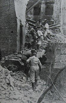 Name a city which was completely destroyed by the Germans?