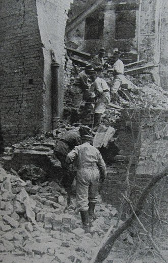 Planned destruction of Warsaw - Sprengkommando is preparing to blow up the Royal Castle, 8th September 1944