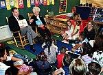 President George H. W. Bush reads to school children.jpg