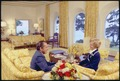 President and Mrs. Nixon sitting in the living room of their San Clemente home. - NARA - 194344.tif