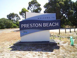 Preston Beach, Western Australia - Preston Beach welcome sign