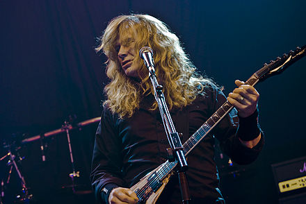 Dave Mustaine went on to found rival band Megadeth after being released from the band in 1983. Priest feast 22 - megadeth 05.jpg