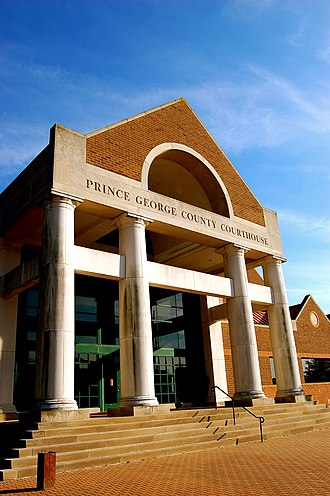 Prince George County, Virginia - Image: Prince George County Courthouse