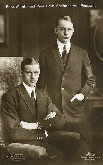 Prince Wilhelm of Prussia (1906–1940) - Prince Wilhelm, left, with his brother, Louis Ferdinand, in 1926