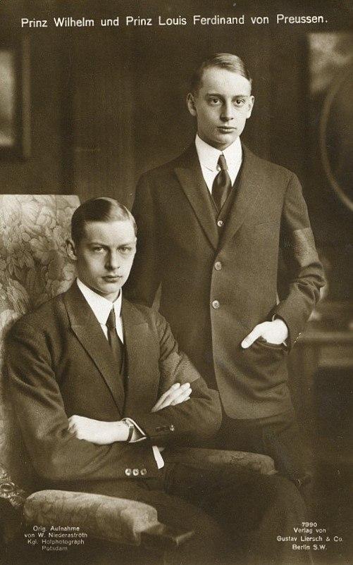 Prinz Wilhelm und Prinz Lous Ferdinand von Preussen