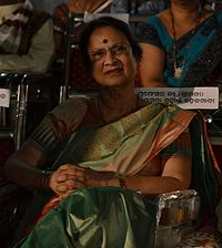 Priyambada Mohanty Hejamdi during 22nd Odia Film Award ceremony 2014, Bhubaneswar.jpg