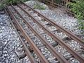 Probestrecke der Kruppschen Werkseisenbahn in Essen für 1676 (Indien) 1435 (Europa) 1067 (Kapspur) 1000 (Burma) P6020007.jpg