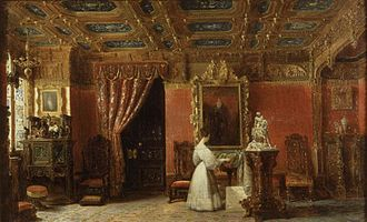 Princess Marie of Orléans (1813–1839) - Princess Marie in her studio in the Tuileries Palace (by Prosper Lafaye, c. 1842)
