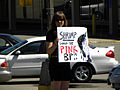 Protest against oil company BP and their still leaking oil in the Gulf of Mexico Shrimp Should be Pink.jpg