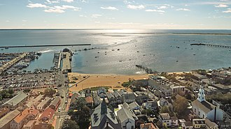 Provincetown Harbor - Provincetown Harbor, looking south-east from Pilgrim Monument
