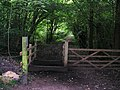 Public footpath-bridleway junction on Kingsdown Lane - geograph.org.uk - 537104.jpg