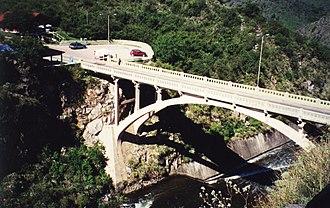 Tercero River - The Provincial Route 5 bridge over the Tercero River