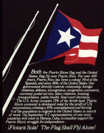 Both the Puerto Rican flag and the United Stat...