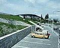 Pusztaszeri út, a Szemlő-hegyi-barlang bejárata. Fortepan 99499.jpg