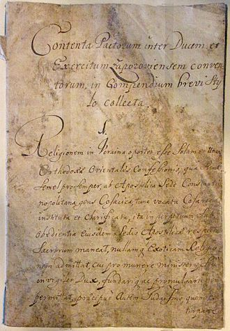 Constitution - The Cossack Constitution of Pylyp Orlyk, 1710.