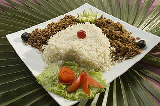 Cooked rice - Image: Qeema With Rice