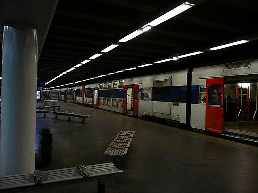 Quai de la gare RER de Neuilly - Porte Maillot