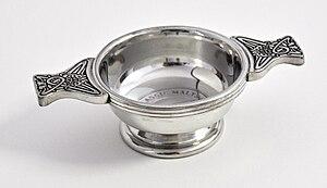 Quaich - A decorated silver quaich