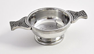 Quaich - A decorated silver quaich
