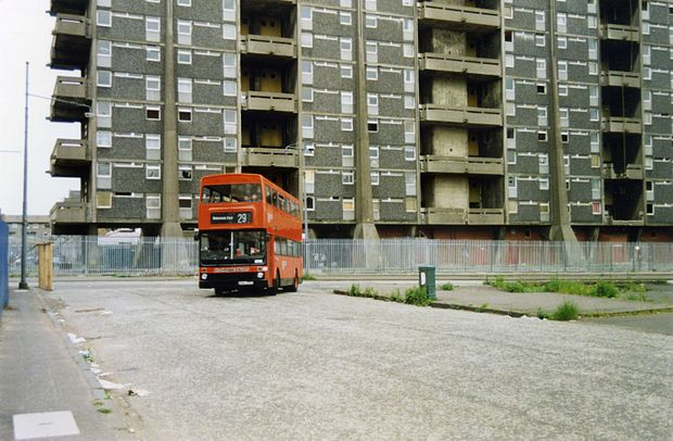 Queen Elizabeth Flats - before demolition 1