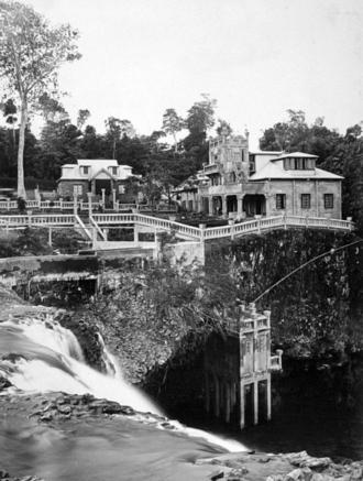 Paronella Park - Paronella Park from the top of Mena Creek Falls Innisfail c 1935