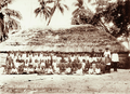 Queensland State Archives 2530 Murray Island schoolchildren and large grass hut 1898.png
