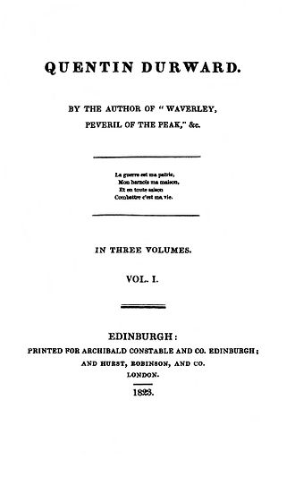 Quentin Durward - First edition title page.