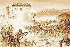 Quinto Cenni - la battaglia di Varese Maggio 1859 - litografia - 1889.jpg