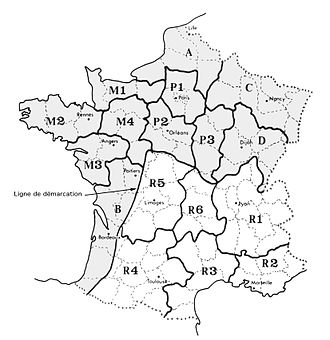 Maquis des Glières - Geographic organization of the French Resistance showing the Haute-Savoie and Rhône-Alpes region in R1