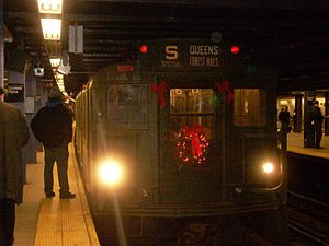 R9 (New York City Subway car) - R9 car 1802 leading the holiday nostaglia train on the IND Sixth Avenue Line