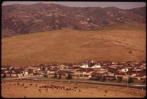 Irvine, California - Suburban development in Irvine Ranch in 1975