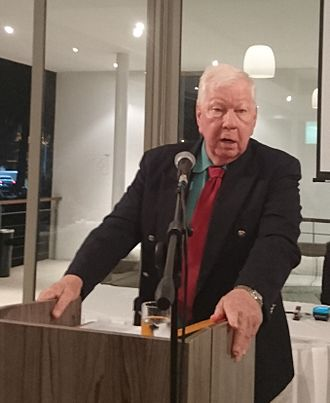 R. W. Johnson - R.W. Johnson speaking at the 10th Barry Streek Memorial lecture in Cape Town, South Africa in August 2016.