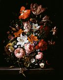Rachel Ruysch - Flowers in a vase on a stone slab - 1704 -1995.67.jpg