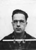 Schreiber's Los Alamos laboratory identification badge photograph
