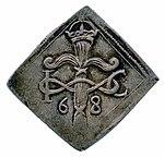 Raha; klippinki; markka; 2 markkaa - ANT2-631 (musketti.M012-ANT2-631 1).jpg